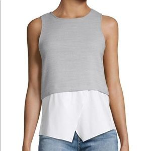 Saks Fifth Avenue Two-Fer Pullover Top